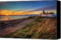 Guidance Canvas Prints - Lighthouse At Sunset Canvas Print by Photo by David R irons Jr