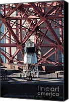 Frisco Canvas Prints - Lighthouse Atop Fort Point Next To The San Francisco Golden Gate Bridge - 5D18999 Canvas Print by Wingsdomain Art and Photography