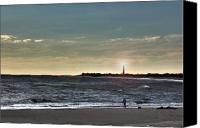 Kevin Sherf Canvas Prints - Lighthouse Fisherman Canvas Print by Kevin  Sherf