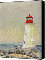 Lighthouses Canvas Prints - Lighthouse Canvas Print by Jeff Kolker