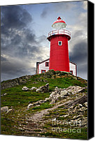 Stormy Photo Canvas Prints - Lighthouse on hill Canvas Print by Elena Elisseeva