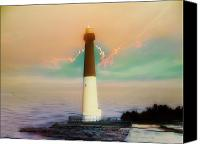 Barnegat Canvas Prints - Lighthouse Sunrise Canvas Print by Bill Cannon