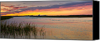 Race Point Canvas Prints - Lighthouse Sunset Canvas Print by Bill  Wakeley