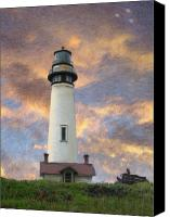 Impressionism Art Mixed Media Canvas Prints - Lighthouse visitors Canvas Print by Snake Jagger