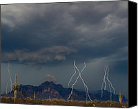 The Superstitions Canvas Prints - Lighting on the Superstition Mountain Canvas Print by Brian Lambert