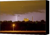Loveland Canvas Prints - Lightning Bolts Striking in Loveland Colorado Canvas Print by James Bo Insogna