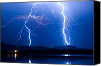 Insogna Canvas Prints - Lightning Storm 08.05.09 Canvas Print by James Bo Insogna