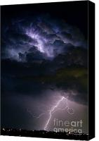 Buy Framed Prints Canvas Prints - Lightning Thundehead Storm Rumble Canvas Print by James Bo Insogna