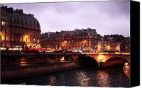 La Seine Canvas Prints - Lights in Paris Canvas Print by John Rizzuto