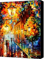 Afremov Canvas Prints - Lights In The Night Canvas Print by Leonid Afremov
