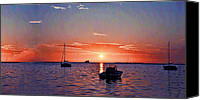 Tampa Digital Art Canvas Prints - Like a Painted Sky Canvas Print by Bill Cannon