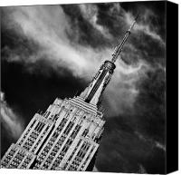 Nyc Photo Canvas Prints - Like a Rocket Ship Heading to the Moon Canvas Print by John Farnan