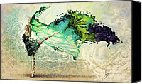 Pouring Painting Canvas Prints - Like air I willl raise Canvas Print by Karina Llergo Salto