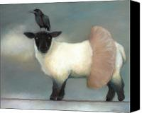 Sheep Canvas Prints - ...like Lambs.. Canvas Print by Katherine DuBose Fuerst
