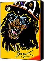 Popstract Canvas Prints - Lil Jon full color Canvas Print by Kamoni Khem