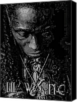 Anibal Diaz Canvas Prints - Lil Wayne Distorted Mind Canvas Print by Anibal Diaz