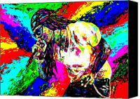Hip-hop Canvas Prints - Lil Wayne Canvas Print by Mike OBrien