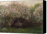 Le Jardin Canvas Prints - Lilacs Canvas Print by Claude Monet