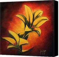 Fine Art Photography Painting Canvas Prints - Lilies 2 Canvas Print by Mauro Celotti