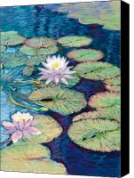 Pond Pastels Canvas Prints - Lily Pads Canvas Print by Valerian Ruppert