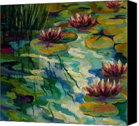 Water Lily Canvas Prints - Lily Pond II Canvas Print by Marion Rose