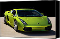 Fast Canvas Prints - Lime-Borghini Canvas Print by Peter Tellone