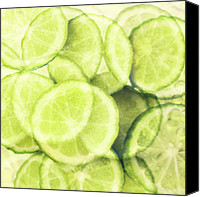Lime Canvas Prints - Lime Slices Canvas Print by Linde Townsend