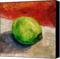 Limes Canvas Prints - Lime Still Life Canvas Print by Michelle Calkins