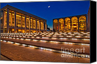 Nyc Photo Canvas Prints - Lincoln Center Canvas Print by Susan Candelario
