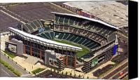 Aerial Canvas Prints - Lincoln Financial Field Philadelphia Eagles Canvas Print by Duncan Pearson