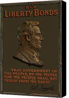 Abe Lincoln Canvas Prints - Lincoln Gettysburg Address Quote Canvas Print by War Is Hell Store