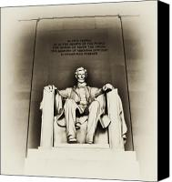 D.c. Digital Art Canvas Prints - Lincoln Memorial Canvas Print by Bill Cannon