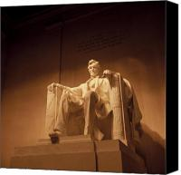 Patriotic Canvas Prints - Lincoln Memorial Canvas Print by Gene Sizemore