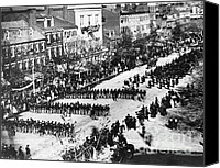 The White House Canvas Prints - Lincolns Funeral Procession, 1865 Canvas Print by Photo Researchers, Inc.