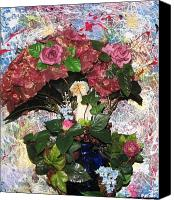 Vase Sculpture Canvas Prints - Linda Adams 2010 Time To Go  Canvas Print by HollyWood Creation By linda zanini