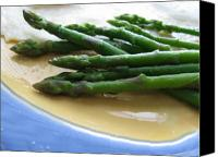 Stoneware Canvas Prints - Lindie Bistro Asparagus Spears Canvas Print by Lindie Racz