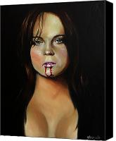 Celeb Canvas Prints - Lindsay Lohan Canvas Print by Matt Truiano