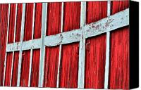 Farm Scenes Canvas Prints - Line of Red Canvas Print by Emily Stauring