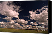 Montana Digital Art Canvas Prints - Line Shack  Canvas Print by The Stone Age