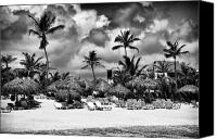Lined Up Canvas Prints - Lined Up at Punta Cana Canvas Print by John Rizzuto