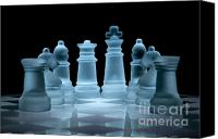 Chess Set Canvas Prints - Lines of Defence Canvas Print by Ann Garrett