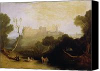 Manor Painting Canvas Prints - Linlithgow Palace Canvas Print by Joseph Mallord William Turner