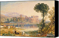 Ruin Painting Canvas Prints - Linlithgow Palace Canvas Print by Joseph Mallord William Turner