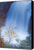 Dustin K Ryan Canvas Prints - Linville Falls North Carolina Waterfall Canvas Print by Dustin K Ryan