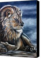 Lion Painting Canvas Prints - Lion Canvas Print by Ilse Kleyn