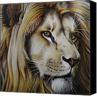 Jurek Zamoyski Canvas Prints - Lion Canvas Print by Jurek Zamoyski