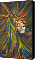 Lion Painting Canvas Prints - Lion Canvas Print by Kd Neeley