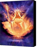Lion Canvas Prints - Lion of Judah Canvas Print by Jeff Haynie