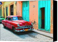 Havana Daydreams Canvas Prints - Lipstick Red Canvas Print by Dominic Piperata