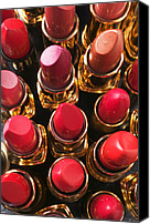 Make-up Canvas Prints - Lipstick Rows Canvas Print by Garry Gay